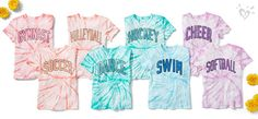 Let her sporty side shine in fun tie dye.