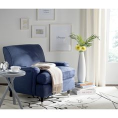 Safavieh Chloe Navy Club Chair | Overstock.com Shopping - The Best Deals on Living Room Chairs