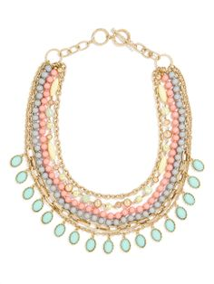 Eclectic Beaded Strands Necklace   BaubleBar