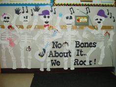 Skeleton Bulletin Board Seasonal Bulletin Boards, Decor, Decoration, Decorating, Deco