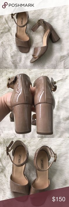 """Paul Green ankle strap patent open toe heel Sz 3.5 uk Sz 6 us Paul green heel. Excellent condition, small mark on patent and some scuffs on bottom as photos depict. Heel approx 3"""" heel Paul Green Shoes Heels"""