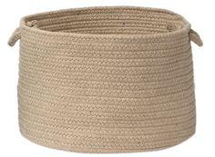 Renaissance Sunbrella® Indoor Outdoor Round Braided Basket, RA10 Papyrus