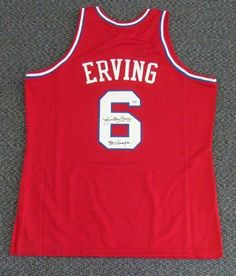 Julius Erving 1982-83 Mitchell & Ness Autographed/Hand Signed 76ers Jersey 83 Champs PSA/DNA by Hall of Fame Memorabilia. $452.95. This is a 1982-1983 Philadelphia 76ers Mitchell & Ness jersey that has been hand signed by Julius Erving. Julius signed this one, ''83 Champs.'' The autograph has been authenticated by PSA/DNA. It comes with their sticker and matching certificate.