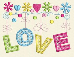 Love Machine Embroidery Design by cranberryridgedesign on Etsy, $23.00