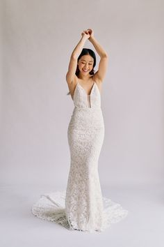 Sash & Bustle an intimate and beautiful boutique for the modern bride, located in Toronto, Ontario, Canada Spanish Lace Wedding Dress, Form Fitting Wedding Dress, Bridal Dresses, Bridesmaid Dresses, Bridal Sash, Tight Dresses, Formal Dresses, Dress Name, Casual Wedding