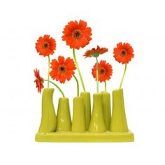 Green Tube Vase