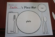 get kids to set the table!