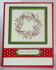 Wreath card- did something similar 2 years ago. resurrect?
