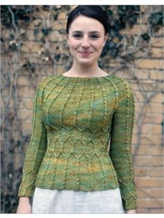 Sotherton A simple shaped pullover with elegant twist-stitch lines