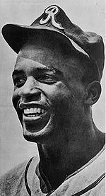 Jackie Robinson in 1945, with the era's Kansas City Royals, a barnstorming squad associated with the Negro American League's Kansas City Monarchs