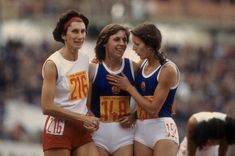 Irena Szewinska (Poland) 50''.40 Bronze Medal (n. 216)@Marita Koch (East Germany) 48''.94 Gold Medal (World Record)@Christiane Marquardt (East Germany) 51''.99 5th place (right)@31.8.1978 East Germany, European Championships, Poland, Athlete, Bronze, Running, Sports, Shop, Cook