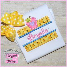 Girly Double Ruler Applique Design