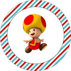 TATU-BOLINHA DECORAÇÃO: Kit para imprimir: Super Mário Super Mario Birthday, Super Mario Bros, Mario Party, Mario E Luigi, 7th Birthday, Geek Stuff, Nintendo, Nara, Chocolate