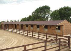 ... Shape Layout - Felt Shingles - Equestrian buildings - Horse Stables