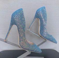Sparkly High Heels, Prom Heels, Gold Heels, Glitter Heels, Black Heels, Baby Blue Heels, Dr Shoes, Shoes Heels, Heels Outfits