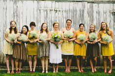 Adorable mis-matched bridesmaids :-)