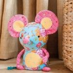 Free Soft Toy Sewing Patterns Mouse  More softies on this site and a free pattern ebook