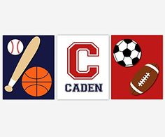 Sports Boy Room Wall Art Baseball Basketball Soccer Football Personalize Monogram Name Toddler Bedroom Baby Nursery Decor SET OF 3 UNFRAMED PRINTS. Sports Boy Room Wall Art Baseball Basketball Soccer Football Personalize Monogram Name Toddler Bedroom Baby Nursery Decor SET OF 3 UNFRAMED PRINTS FRAMES ARE SHOWN FOR DISPLAY PURPOSES ONLY Sizes Available: 5x7 8x10 11x14 If ordering two sizes, center print shown is largest size. 222.