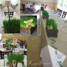 not getting married or anything, but the long planters on the long table are great. want something like that. perhaps i will build one?