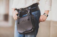 Black Lalibela's Double Betled HipBag ,Crossbody bag,  Belt Bag, Handmade Genuine Leather Hipbag, Handmade Hip Bag by 74streetbags on Etsy https://www.etsy.com/listing/129250022/black-lalibelas-double-betled-hipbag