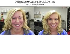 Before and After by MUA Tanya Deemer to book your appointment call 309-688-1003