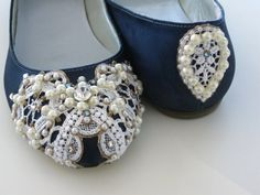 Snowflake Bridal Ballet Flats Wedding Shoes  Any by BeholdenBridal, $145.00