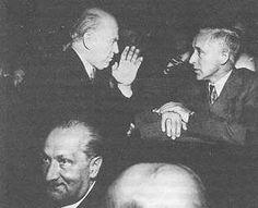 From the left: Martin Heidegger - Werner Karl Heisenberg - Ernst Jünger