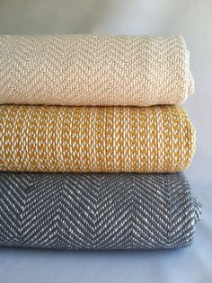 Chevron Throw Hand Woven Blanket by bristolloomsri on Etsy, $275.00