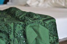 Mirror work bedsheet