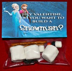"""Frozen"" Valentine's: ""Do You Want to Build a Snowman?"" from ""Family is Friendship"" blog."