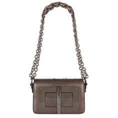 TOM FORD Small Natalia Python Bag ($2,735) ❤ liked on Polyvore featuring bags, handbags, shoulder bags, flap purse, python purse, chain strap purse, tom ford handbags and tom ford purse