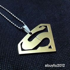 hot sell Superman Symbol Mens Stainless Steel Necklace Pendant  new CAL246