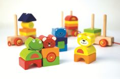 Pintoy stacking toy for little hands to learn about shapes