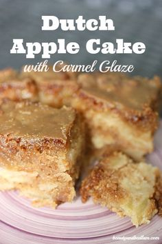 This delicious, mouthwatering Dutch Apple Cake mixes up with 7 apples. With the caramel glaze on top, it's pure delight.