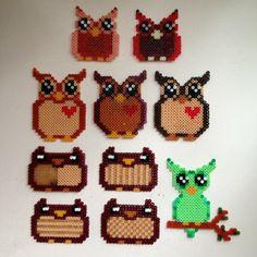 Owls hama mini beads by jessicadorotea