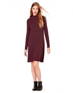 Shop Wool dress Burgundy for Knit at the official United Colors of Benetton online shop.
