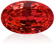 Red spinel, over 100 ct, found in Tanzania.  Spinel is often mistaken for ruby.  The large 'ruby' in Queen Elizabeth's crown is a spinel.