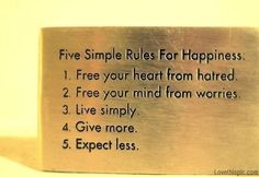 5 Simple Rules Pictures, Photos, and Images for Facebook, Tumblr, Pinterest, and Twitter