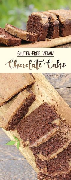 Gluten-free vegan chocolate cake with no refined sugar, by trinity bourne