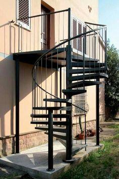 8 mejores im genes de escaleras por fuera de la casa On escalera de caracol de metal fuera