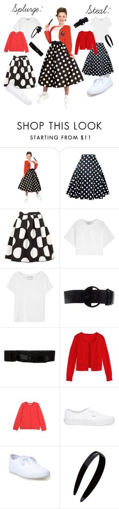 Sock Hop Chick by katiespoleti on Polyvore featuring 3.1 Phillip Lim, Rubie's Costume Co., Boutique Moschino, Vans, Diesel, Dries Van Noten, L. Erickson, France Luxe and Bonpoint
