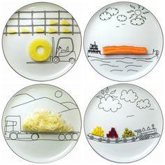 Kids ceramic plates by polnish ŚLIWIŃSKI BOGUSŁAW via designperbambini.it