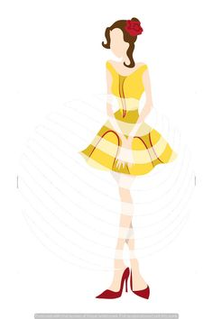 Clip Art Disney Princess Belle Inspired Fashion File by TemplateParadise