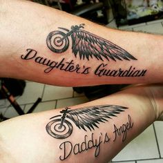 Father and Daughter tattoos Thank you Stephanie and David! #harley ...