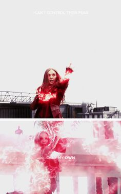 Wanda Maximoff I can't control their fear. Only my own.