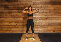 1. Standing Knee Tuck #greatist https://greatist.com/fitness/resistance-band-core-exercises-massy-arias