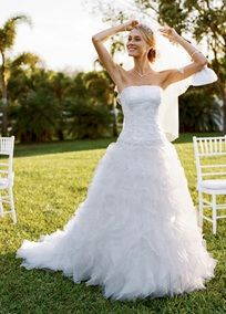 Tulle and organza ball gown