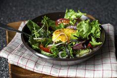 https://flic.kr/p/bW7iiA | warm, crisp and a little melty crouton | Warm, Crisp and A Little Melty Goat Cheese Salad Crouton on smittenkitchen.com