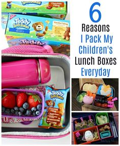 My kids prefer packed lunches to school lunches and I do too! Here's 6 reasons why I pack their lunch box every day.