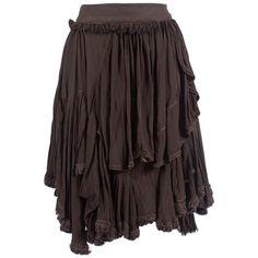 Cooper by Trelise Raisin Fringe Dweller Skirt ($298) ❤ liked on Polyvore featuring skirts, bottoms, women, flounce skirt, frilly skirt, ruffle skirt and fringe skirt